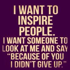 Want to inspire