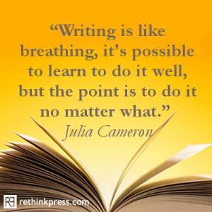 Writing is like breathing